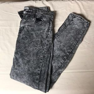 Gray Acid Washed Jeans